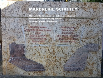 ETS Schittly - Marbriers - Monuments - Articles funéraires -  Bischwiller